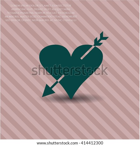 Heart with arrow high quality icon
