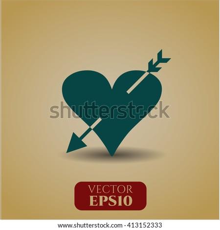 Heart with arrow symbol