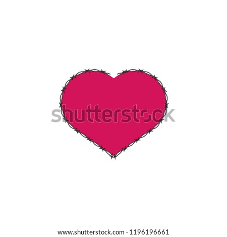 heart with barbed fence
