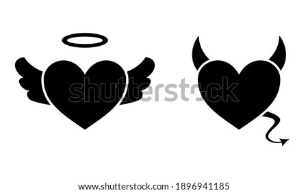 heart with devil horns and a