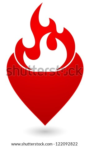 heart with flame icon