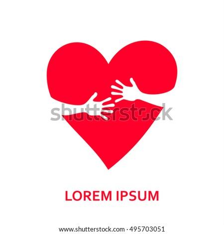 heart with hands hands hug