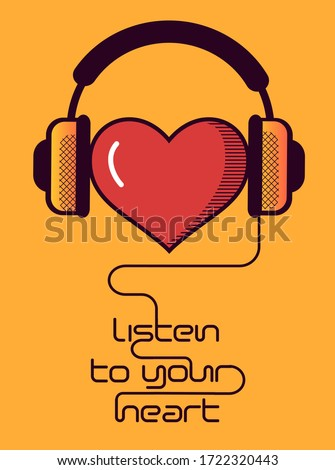 heart with headphones musical