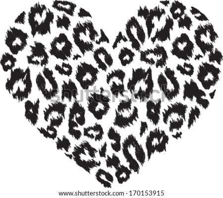 heart with leopard print