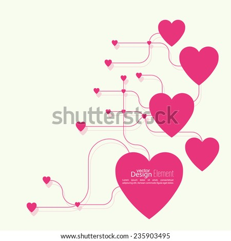 Heart with links. The concept of social connections, help charity, network of health facilities. volunteer assistance. Card for Valentine\'s Day. symbol donate