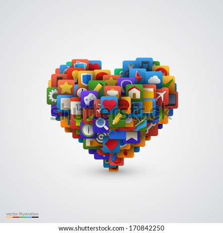 heart with many application