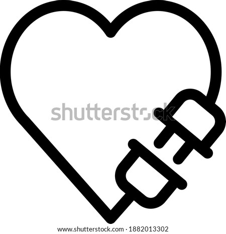 Heart with plug icon, vector illustration Photo stock ©