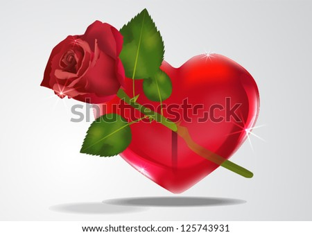 heart with Rose Arrow valentine