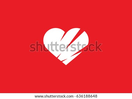 heart with scars icon vector