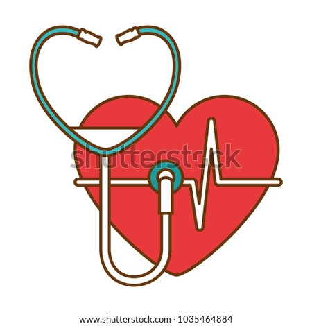 heart with stethoscope medical