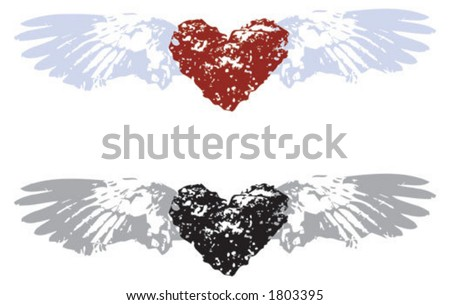 coloring pages of hearts with wings. PICTURES OF HEARTS WITH WINGS