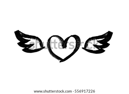 heart with wings love symbol