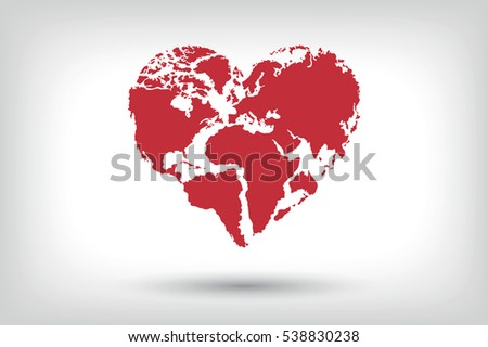heart world  world and love