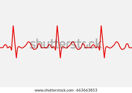 heartbeat icon. ECG Pathology Trace, Vector illustration
