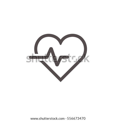 heartbeat icon on the white background