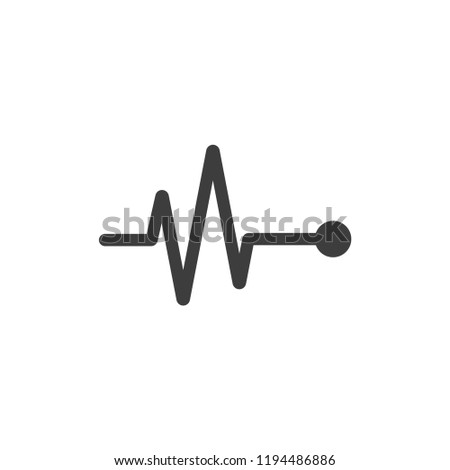 heartbeat icon vector. heartbeat symbol. Linear style sign for mobile concept and web design. Pulse symbol illustration. Pixel vector graphics - Vector.