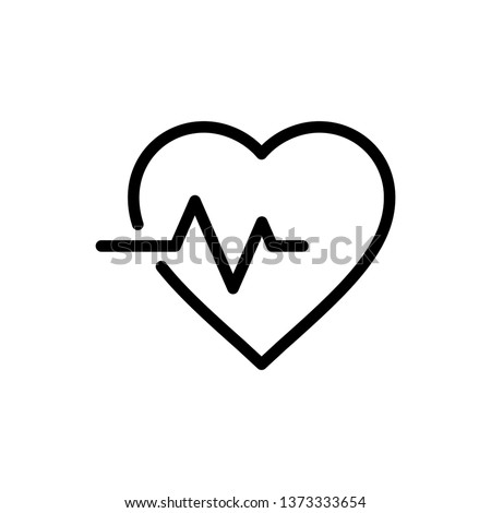 heartbeat Icon Vector Illustration Logo Template
