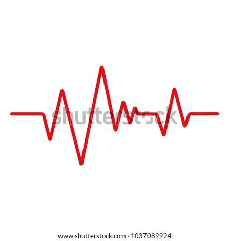 Heartbeat line. ECG.