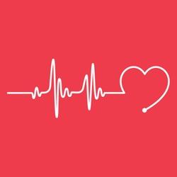 Heartbeat Line Heart Cardio