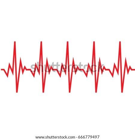Heartbeat line vector