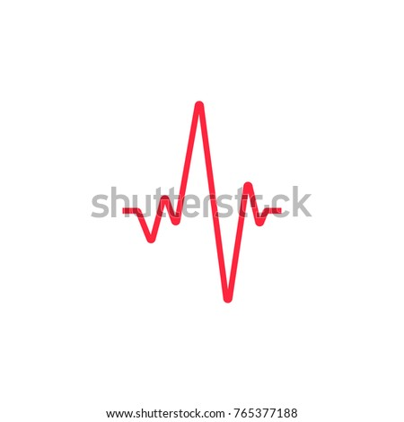 Heartbeat line. Vector icon