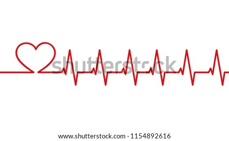 heartbeat love simple red vector illustration EPS10