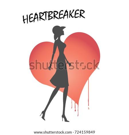 heartbreaker silhouette of a