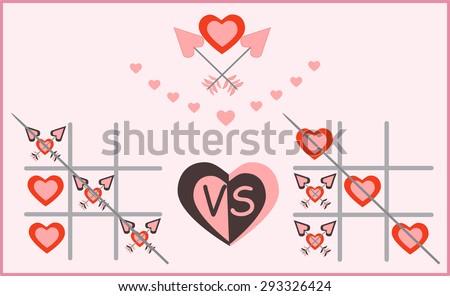 hearts and arrows vector