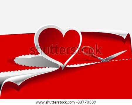 hearts and scissors