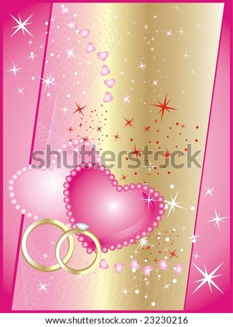 stock vector Hearts and stars Background for wedding card Vector