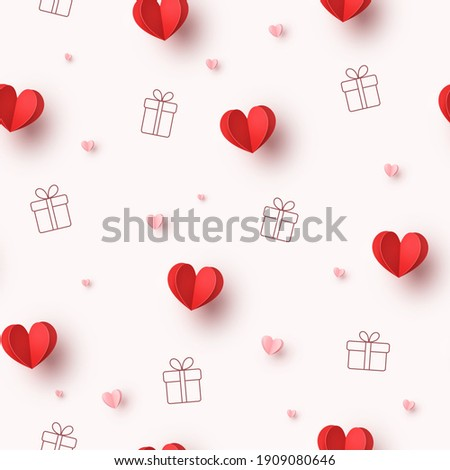hearts balloons and gift boxes