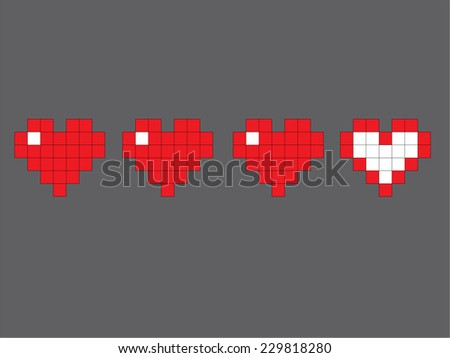 hearts from gaming  isolated on