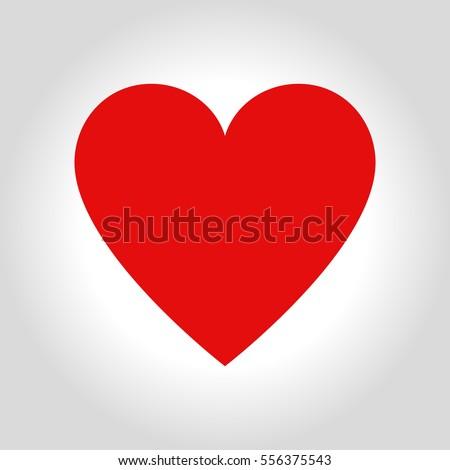 Hearts icon symbol of love on valentines Day. Stockfoto ©