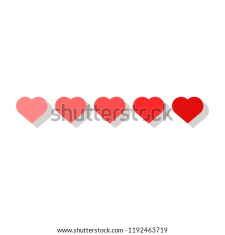 Hearts icons.vector illustration #1192463719
