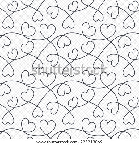 hearts lines pattern background