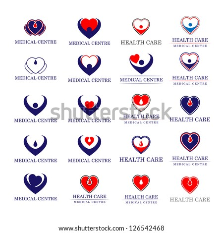 Hearts - Medical Icons Set - Isolated On White Background - Vector illustration, Graphic Design Editable For Your Design. Hearts Logo