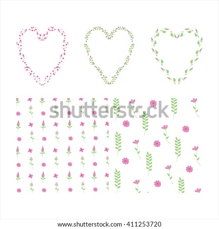 hearts of flowers print of