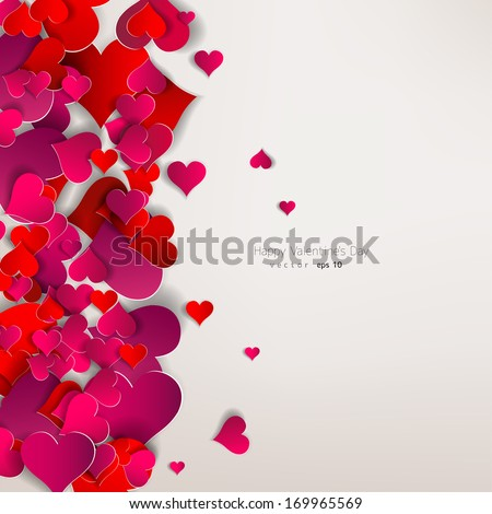 hearts on abstract love