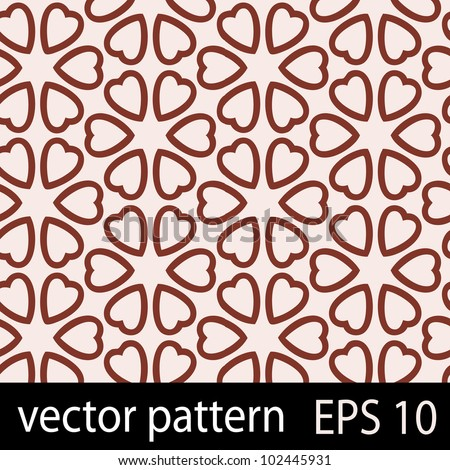 Hearts pattern. Seamless vector background