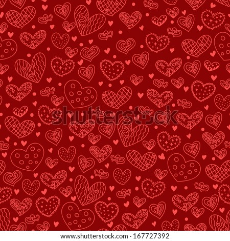 Hearts seamless. Holiday background.
