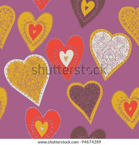 hearts. seamless pattern