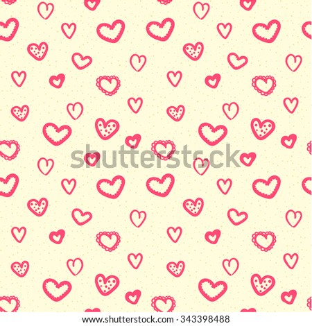 Hearts seamless pattern background, ideal for celebrations, wedding invitation, mothers day and valentines day