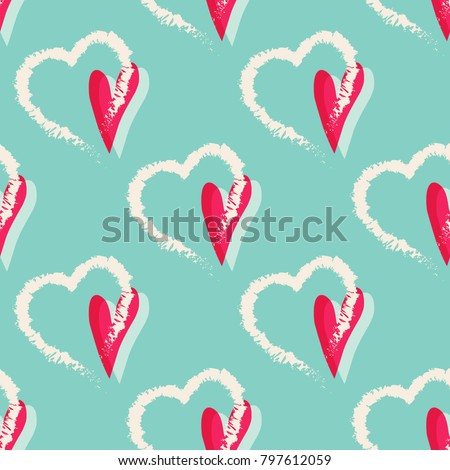hearts seamless pattern lovely