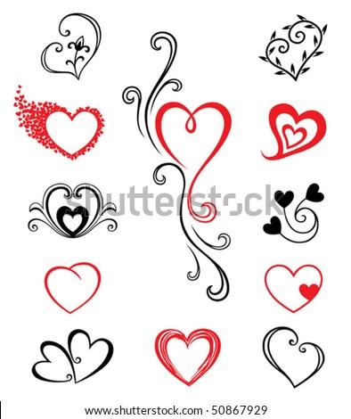 hearts   tattoo set 2