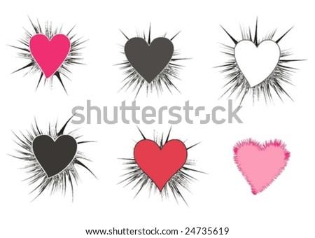 Hearts - vector illustration
