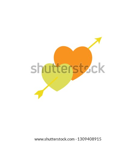 Hearts with arrow icon. Element of Valentine day icon for mobile concept and web apps. Detailed Hearts with arrow icon can be used for web and mobile