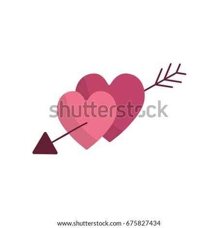 Hearts With Arrow To Symbolic Of Passion And Love Ez Canvas