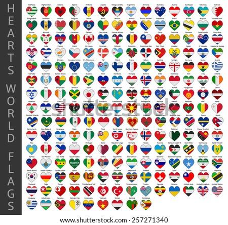 hearts world flags #257271340