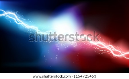 Heat lighting. Electrical discharge. Vector illustration.