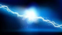 Heat lighting. Electrical energy. Vector illustration.